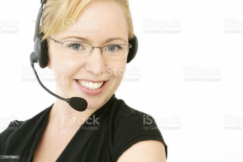 Smiling Service royalty-free stock photo