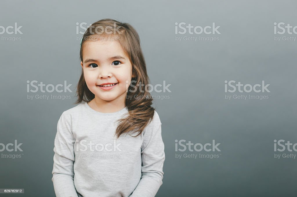 Smiling Small Girl stock photo