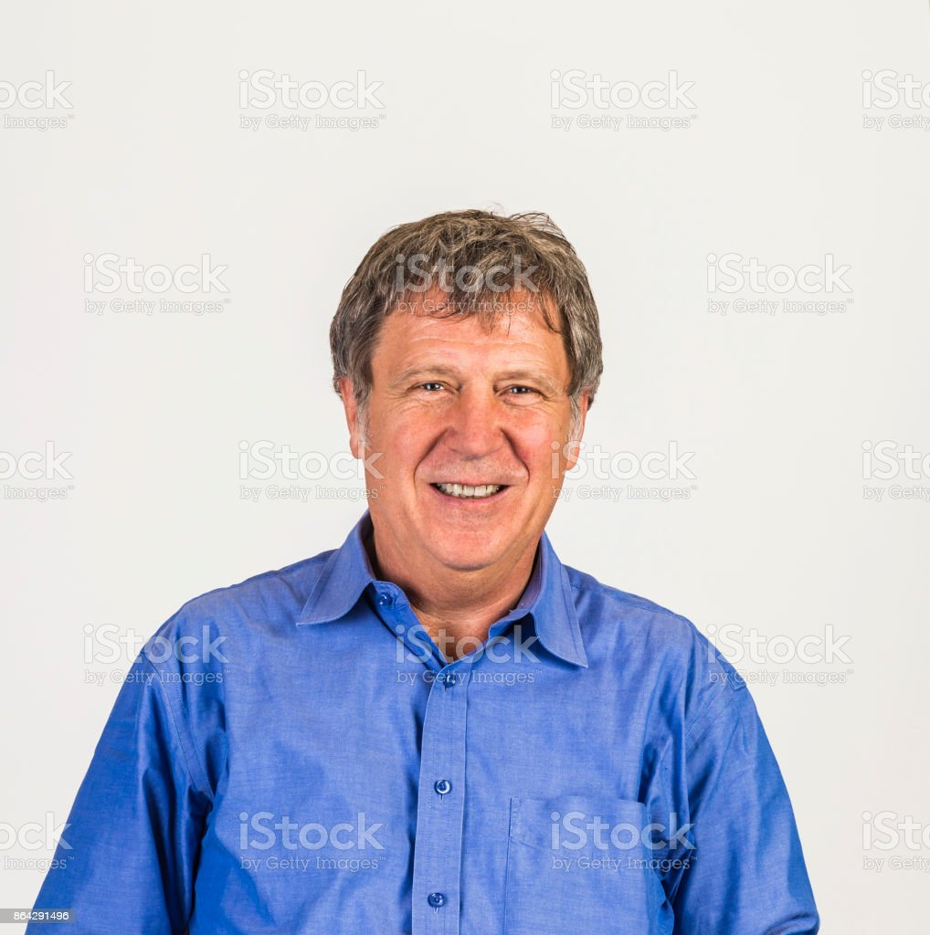smiling smart mature man royalty-free stock photo