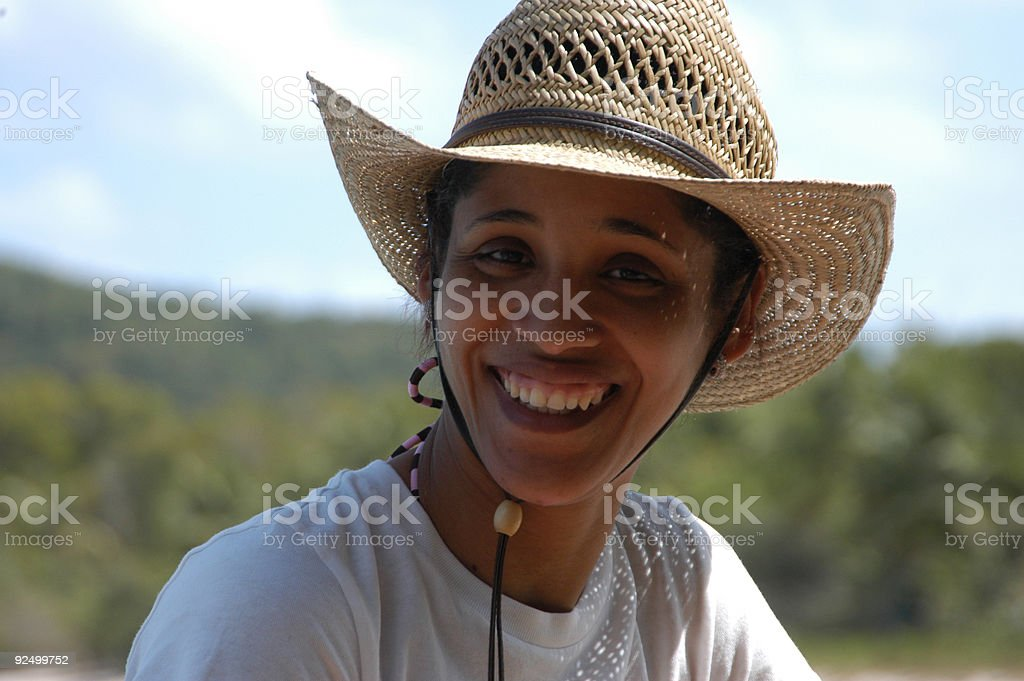 Smiling Spanish Cowgirl royalty-free stock photo