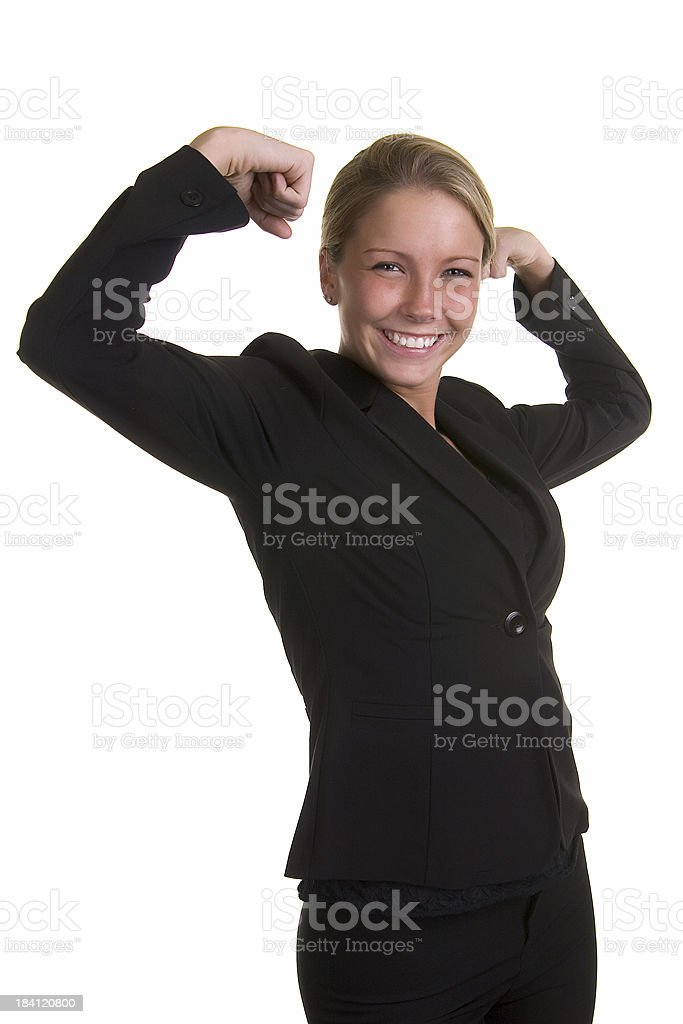 Smiling Strong Woman royalty-free stock photo