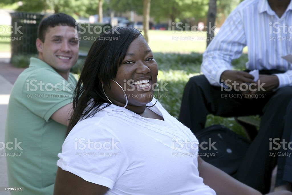 Smiling Students royalty-free stock photo