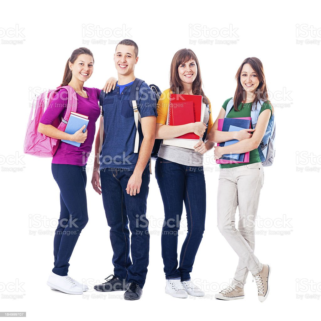 Smiling Students stock photo
