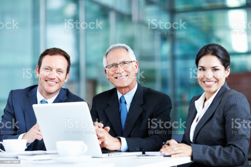 Smiling successful business team royalty-free stock photo