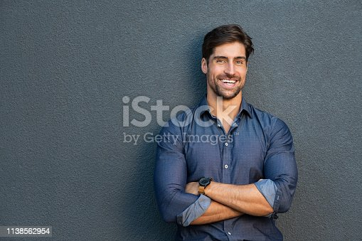 istock Smiling successful man with crossed arms 1138562954