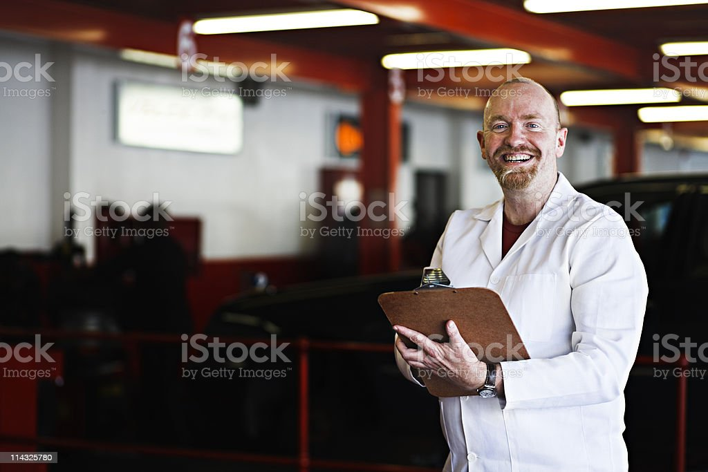 Smiling supervisor, foreman or inspector royalty-free stock photo