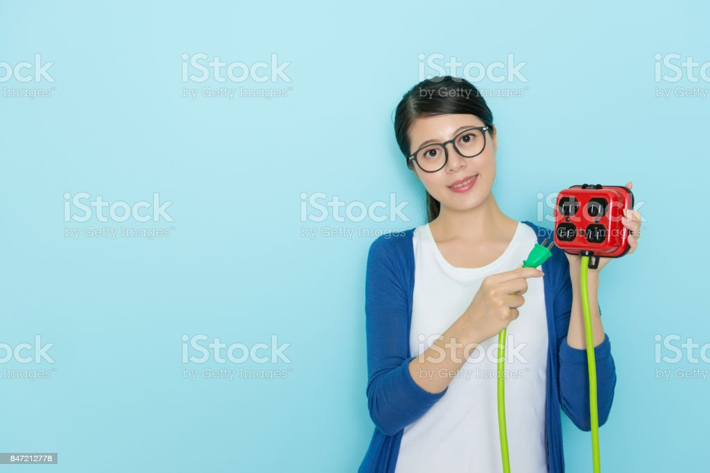 smiling sweet woman wearing lifestyle clothing stock photo