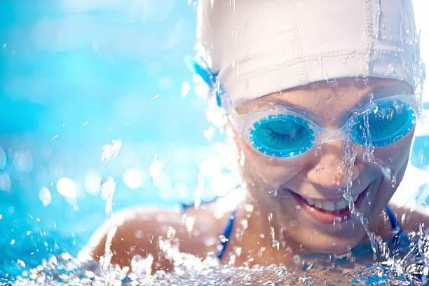Souriant natation - Photo