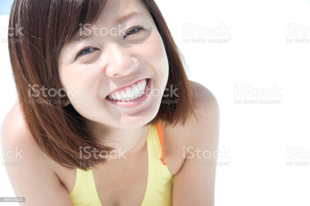微笑泳裝婦女 免版稅 stock photo