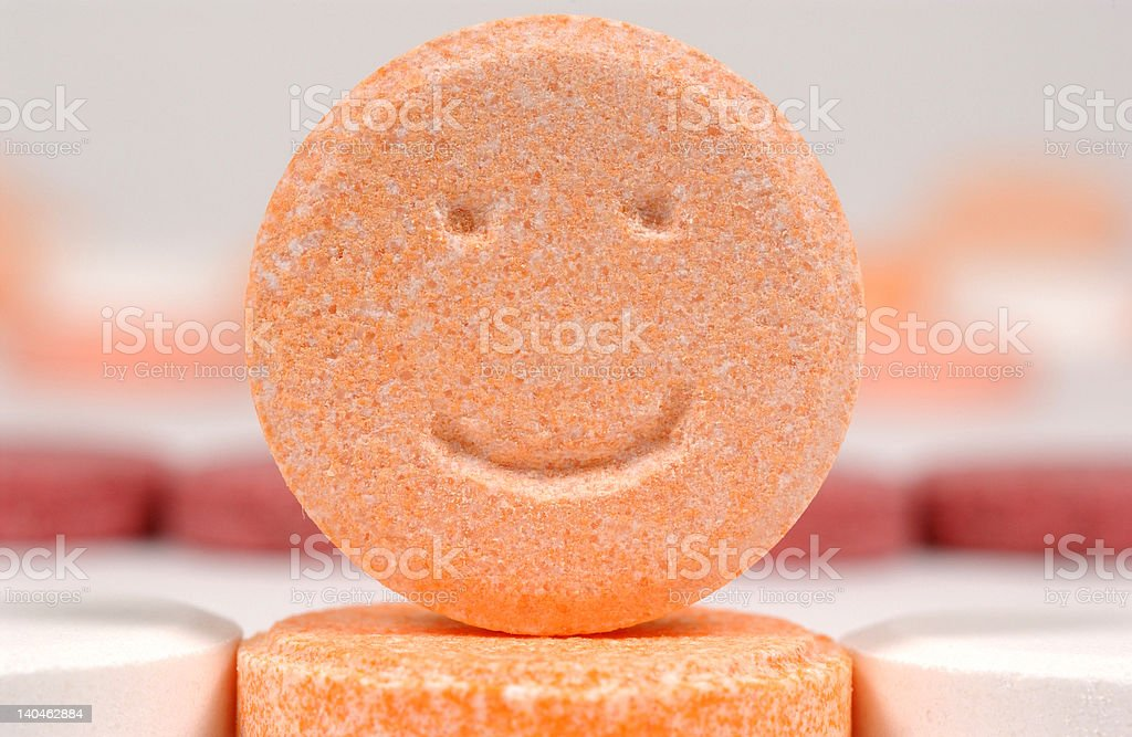 Smiling Tablet stock photo