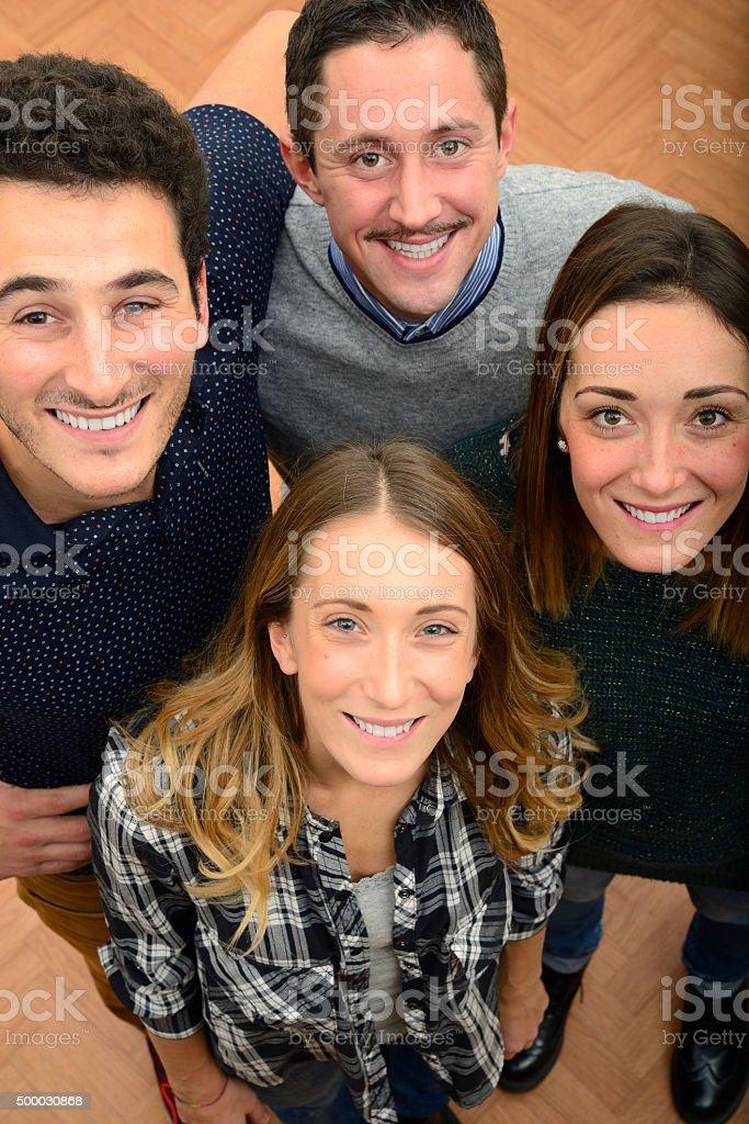Smiling teamwork stock photo