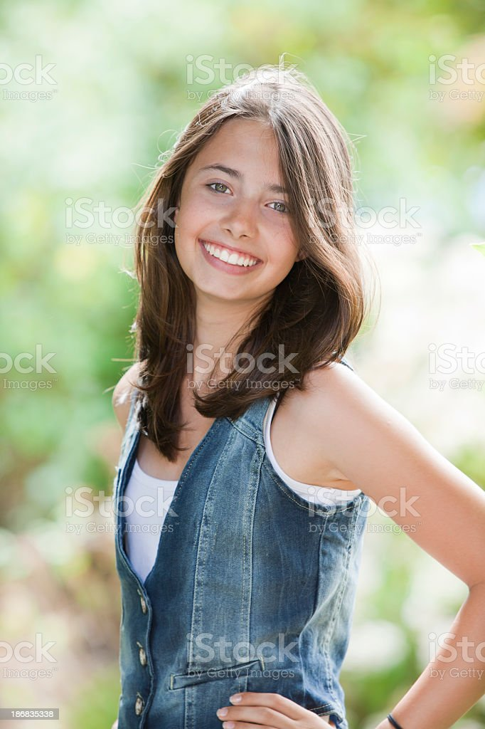 Smiling Teen Girl Stock Photo & More Pictures Of 14-15
