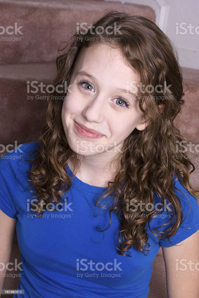 Smiling Teen in T-shirt royalty-free stock photo