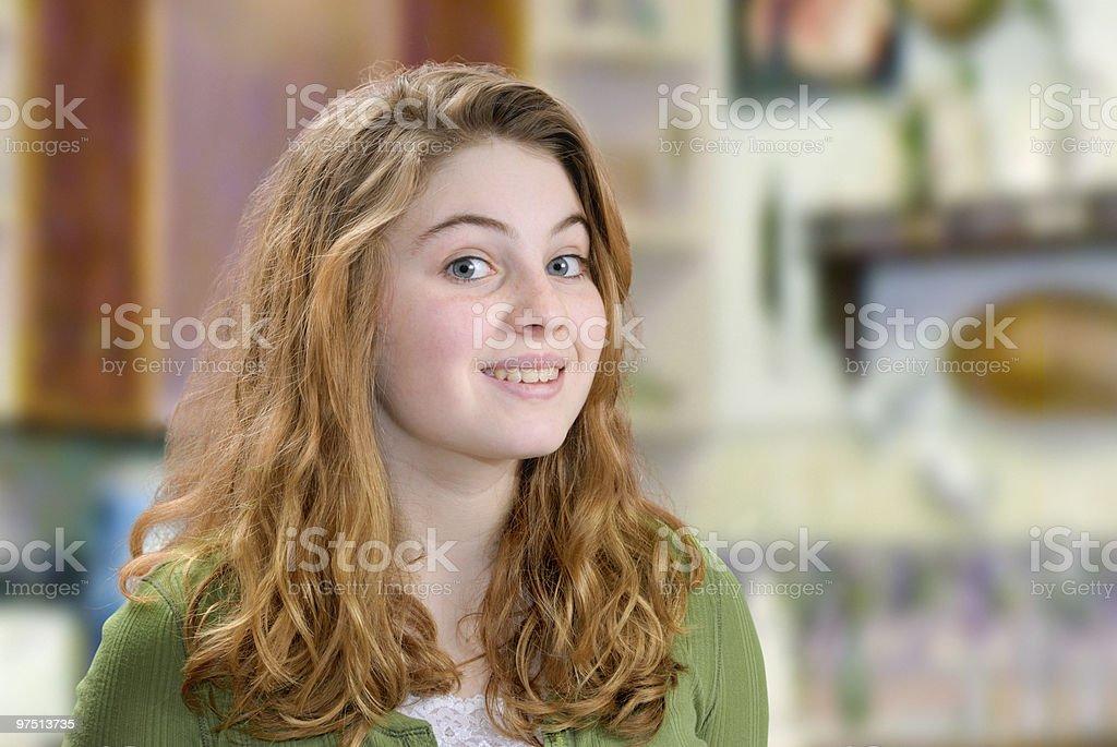 Smiling Teen royalty-free stock photo