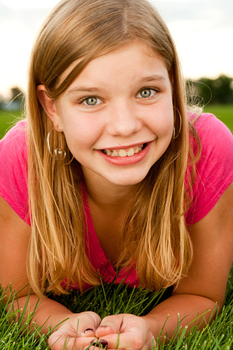 Smiling Beautiful Teenage Girl Stock Photo - Download