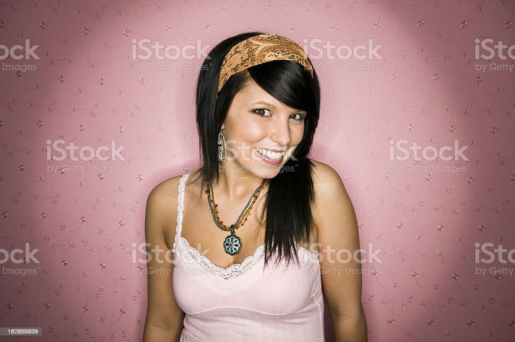 Smiling Teenage Girl royalty-free stock photo