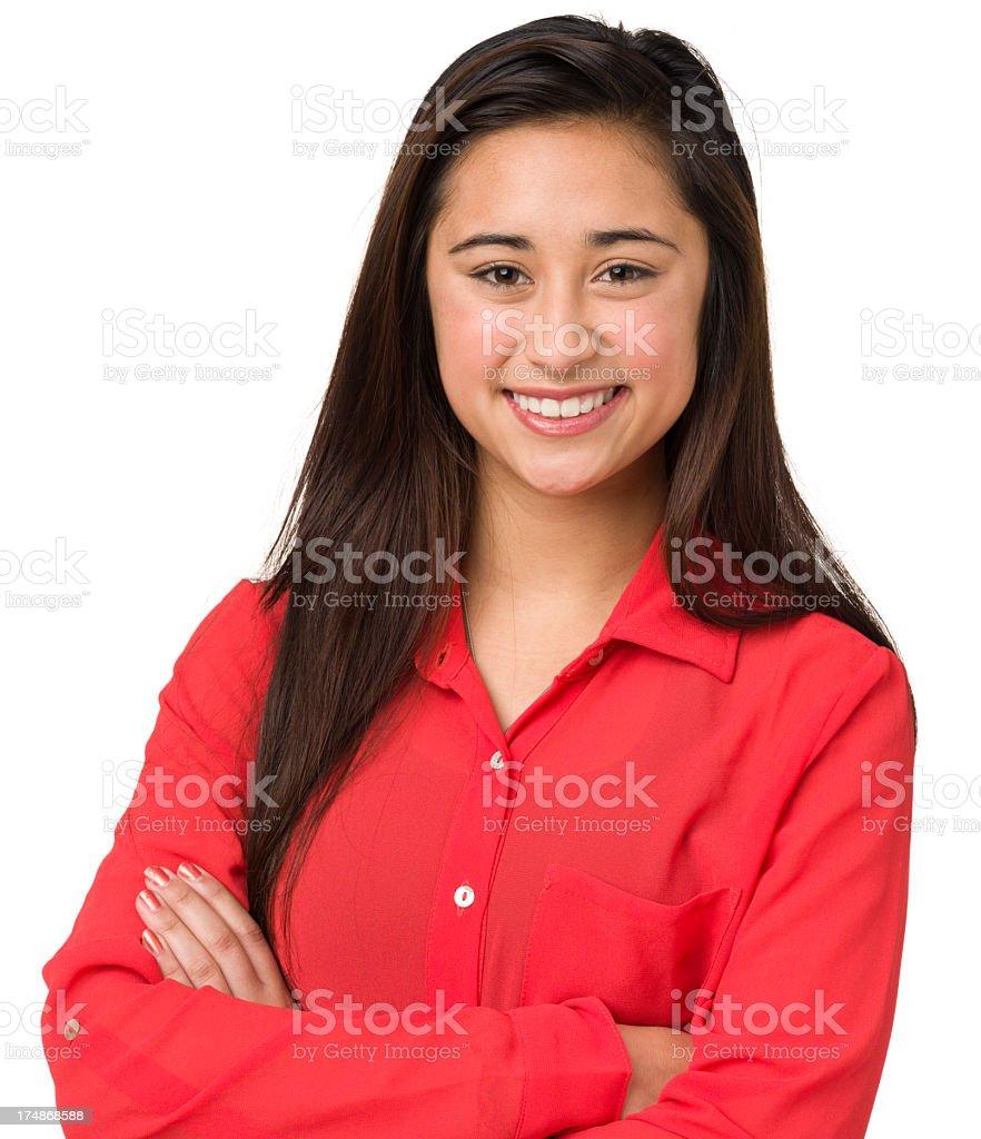 Smiling Teenage Girl Portrait royalty-free stock photo