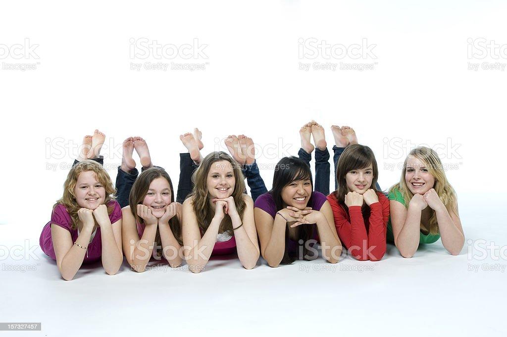 Улыбающихся подростков стоковое фото