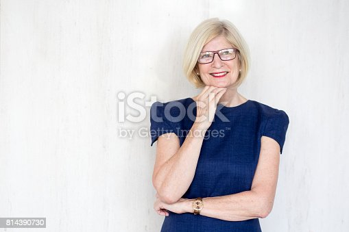 istock Smiling thoughtful senior woman in eyeglasses 814390730