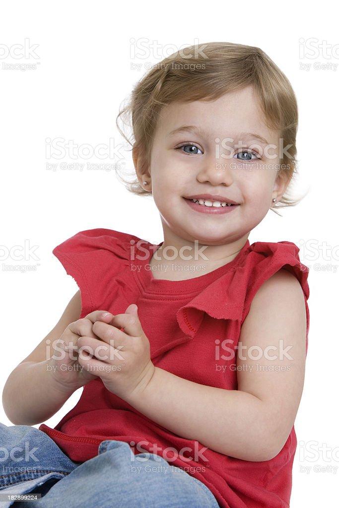 Smiling toddler royalty-free stock photo