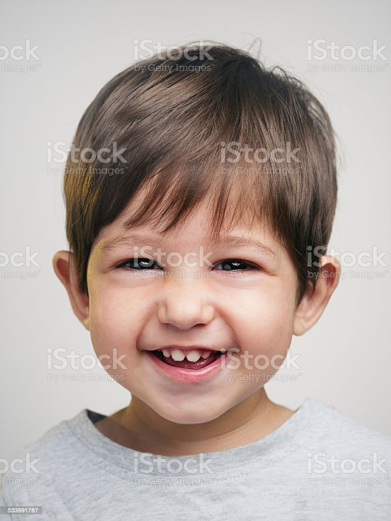 Smiling toddler stock photo