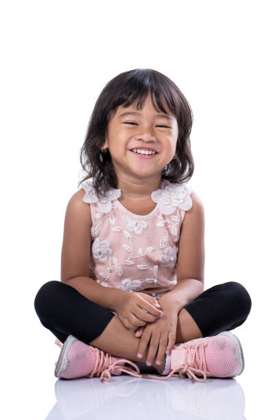 Girl Face Sitting Stock Photos, Pictures & Royalty-Free