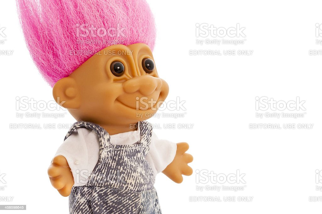 Smiling Troll stock photo