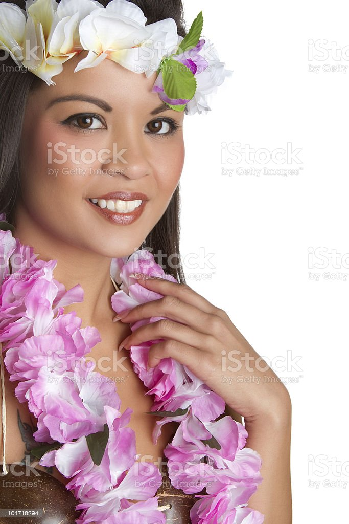 Smiling Tropical Woman royalty-free stock photo