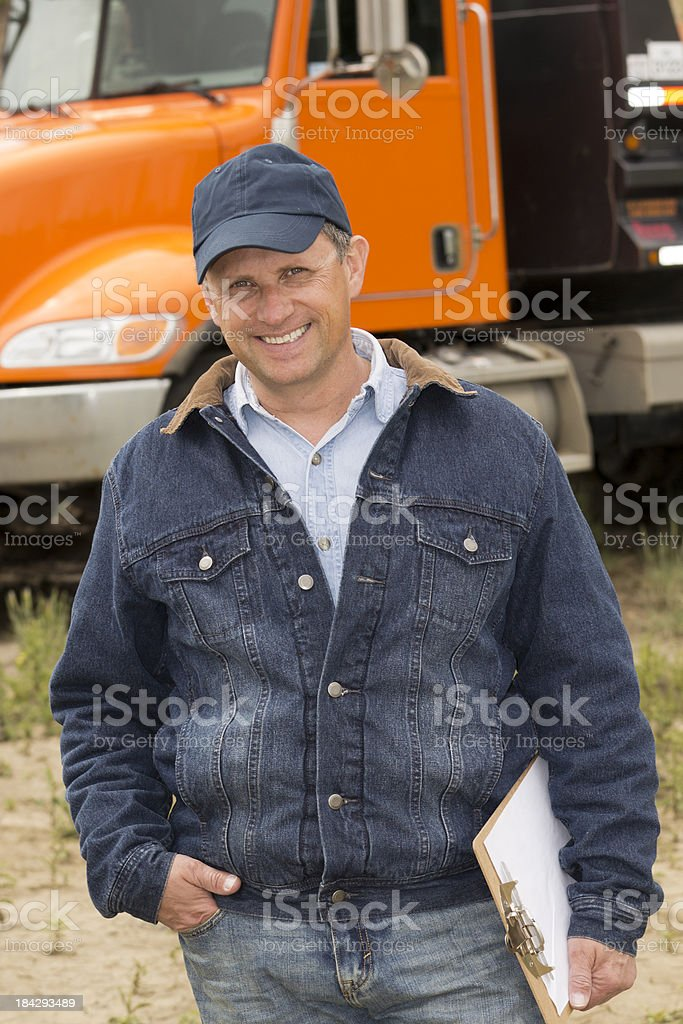 Smiling Trucker royalty-free stock photo