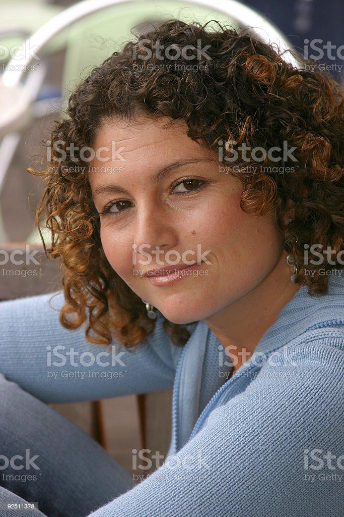 Smiling tunisian girl royalty-free stock photo
