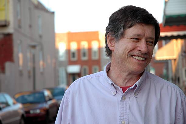 Smiling Urban Dweller stock photo