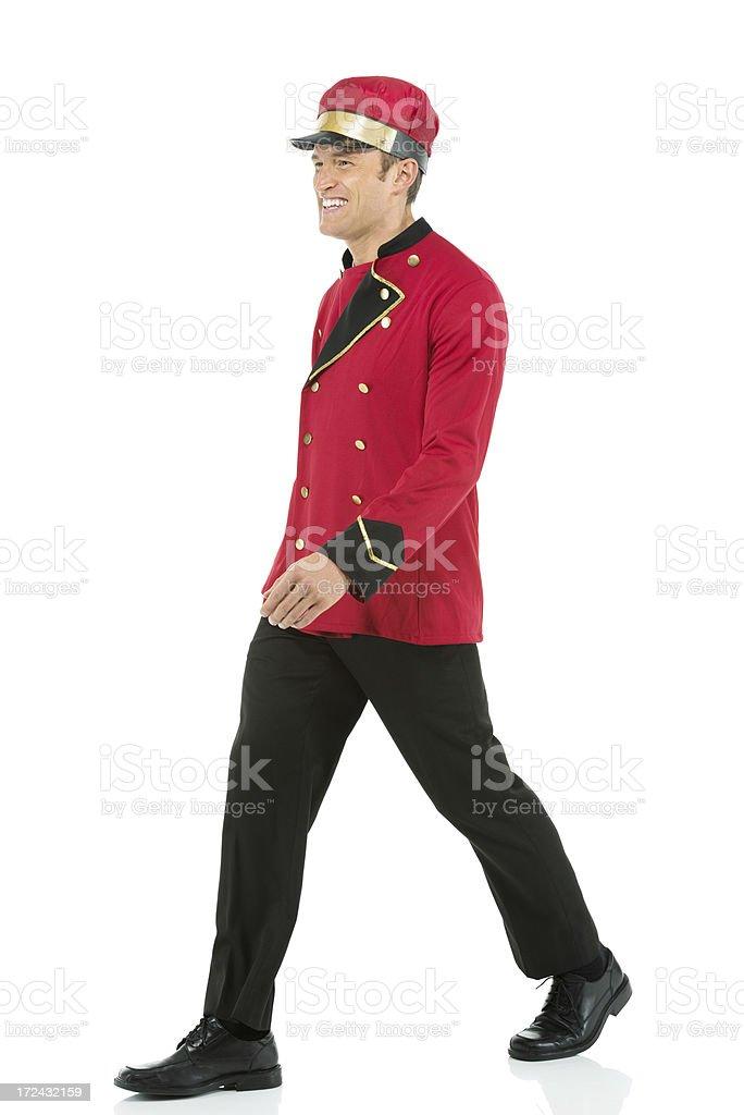 Smiling velet walking royalty-free stock photo