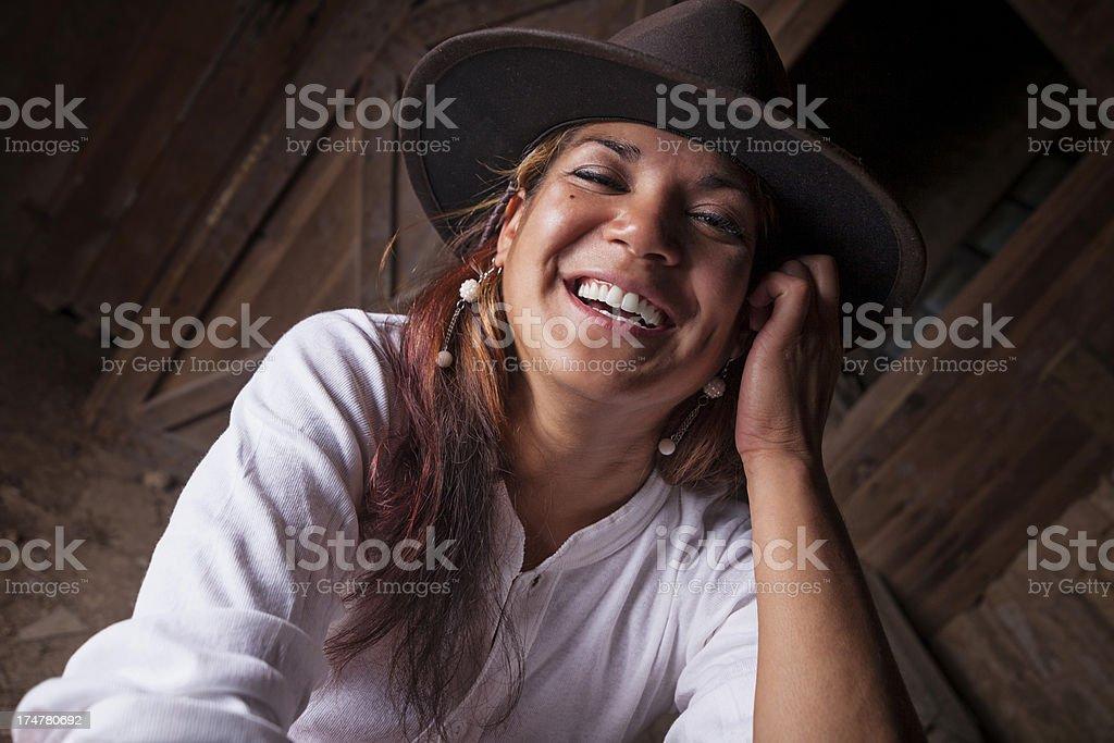 smiling west stock photo