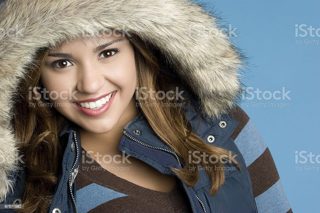 Smiling Winter Girl royalty-free stock photo