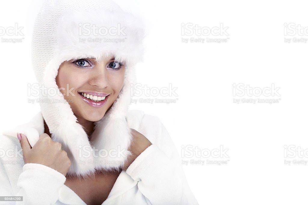 미소 겨울맞이 Woman. 블루 아이즈 - 로열티 프리 겨울 스톡 사진