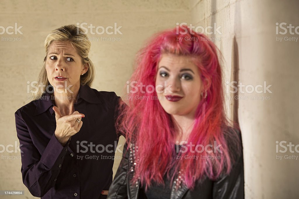 Smiling Woman and Mother stock photo