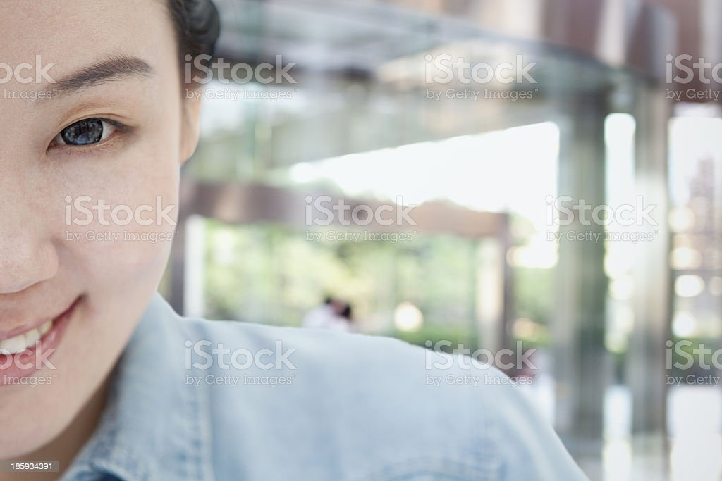 Smiling Woman Close-Up royalty-free stock photo