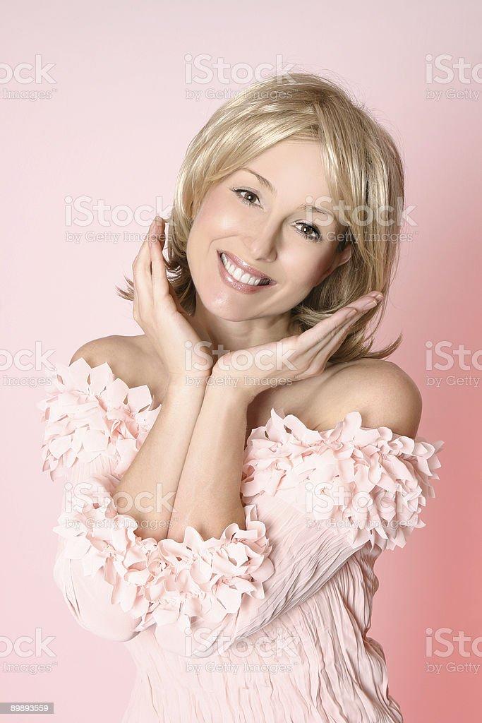 Mujer sonriente feliz mujer foto de stock libre de derechos