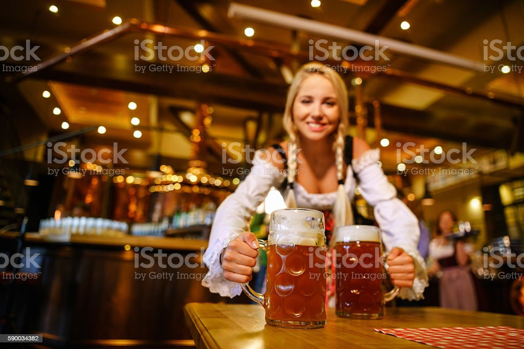 Smiling woman in uniform stock photo
