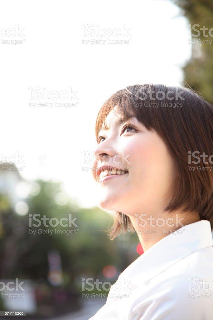 Smiling woman royalty-free stock photo