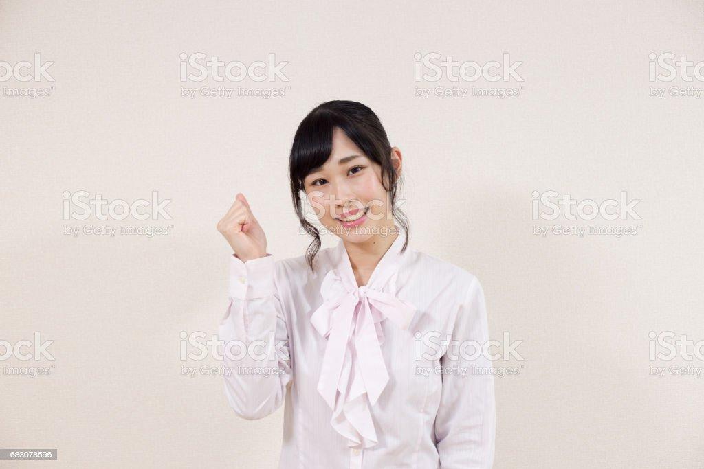 笑顔の女性 zbiór zdjęć royalty-free