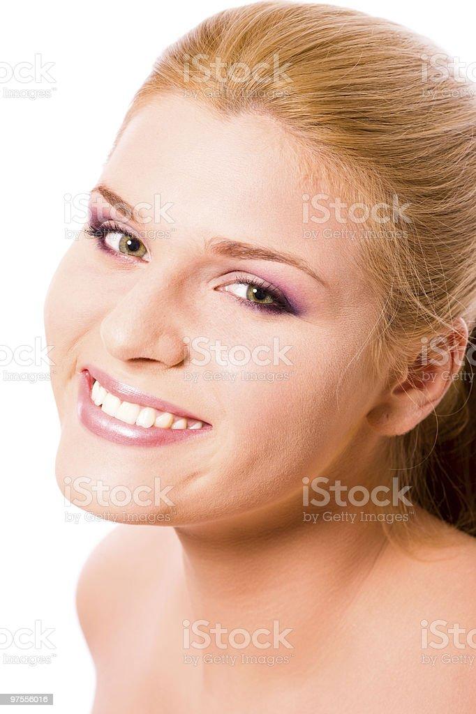 Souriant femme photo libre de droits