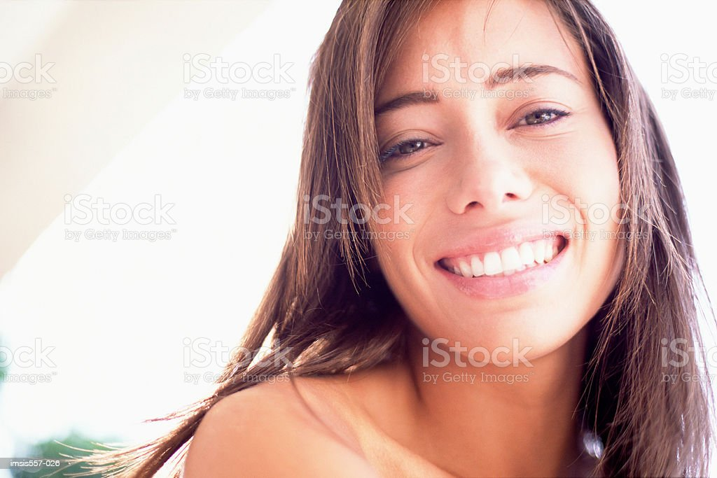 Smiling woman royalty free stockfoto