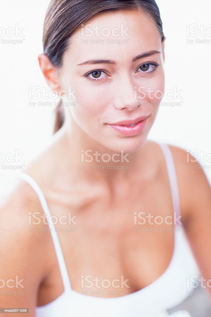 Donna sorridente foto stock royalty-free