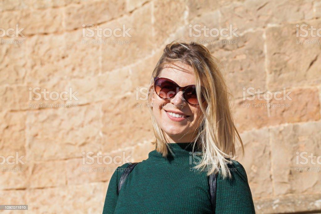 Lächelnde Frau Porträt – Foto