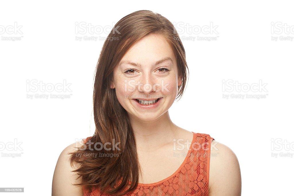 Smiling woman portrait royalty-free stock photo