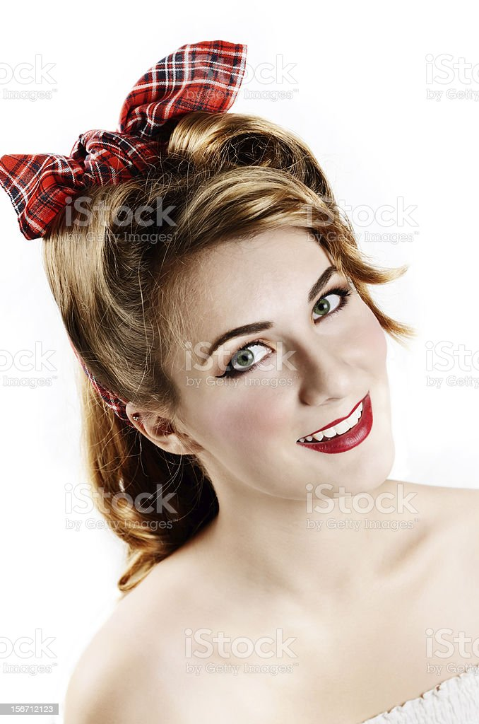 Smiling woman portrait royalty-free stock photo