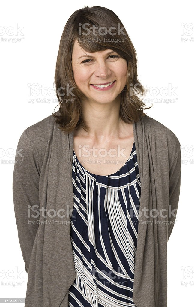 Smiling Woman Waist Up Portrait royalty-free stock photo