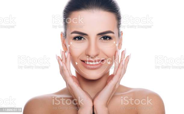 Smiling woman with lifting arrows on face concept of skin lifting picture id1139925115?b=1&k=6&m=1139925115&s=612x612&h= 4judmmsefhfokjpyv3fivocdsv72nvht9ocishxey0=