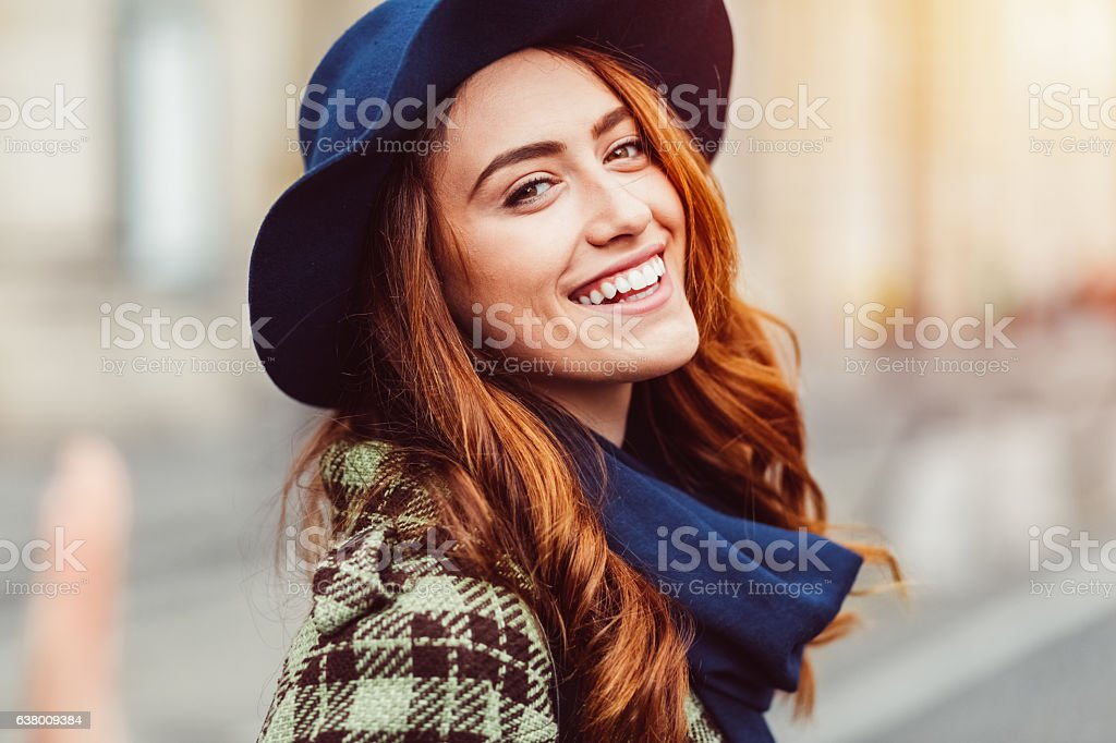 Smiling woman's portrait royalty-free stock photo